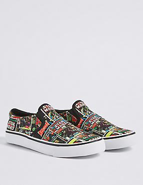 Kids' Star Wars™ Slip-on Trainers, MULTI, catlanding