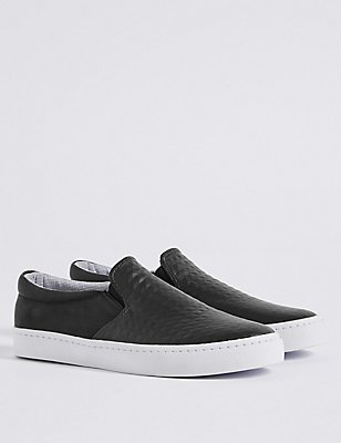 Kids' Slip-on Fashion Trainers, BLACK, catlanding