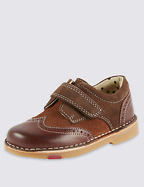 Kids' Walkmates Leather Brogue Shoes, TAN, catlanding