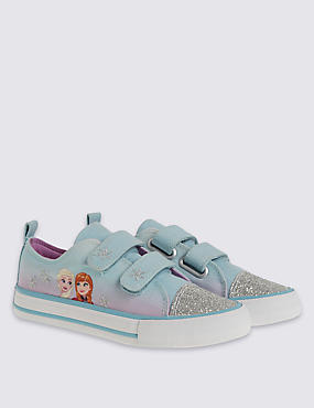 Kids' Riptape Disney Frozen Trainers, AQUA MIX, catlanding