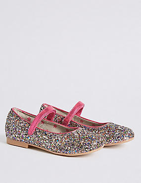 Kids' Riptape Glitter Cross Bar Shoes, MULTI, catlanding