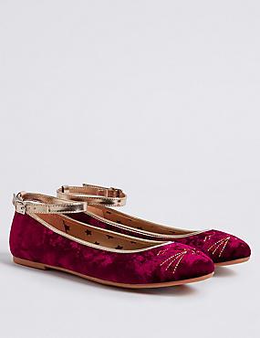 Kids' Ballerina Shoes, DARK RED, catlanding