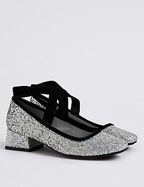 Kids' Glitter Pump Shoes, MULTI, catlanding