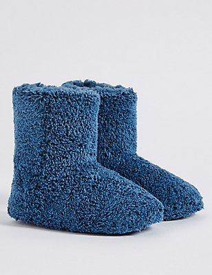Kids' Pull-on Slippers, BLUE, catlanding