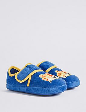 Kids' Applique Lion Riptape Slipper Shoes, MULTI, catlanding