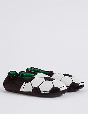 Kids' Football Slippers, BLACK MIX, catlanding