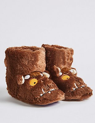 Kids' The Gruffalo™ Slipper, BROWN MIX, catlanding