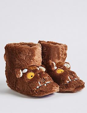Kids' The Gruffalo™ Slipper, BROWN MIX, catlanding
