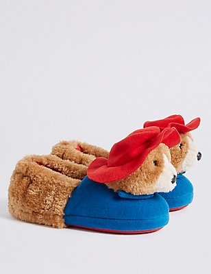 Kids Paddington™ Slippers, BROWN MIX, catlanding