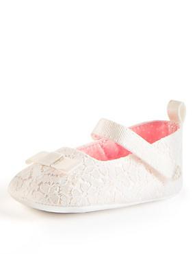 Chaussures de baptême enfants à bride transversale, IVOIRE, catlanding