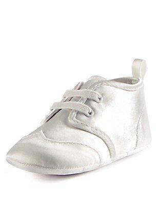 Baby Christening Pram Shoes, IVORY, catlanding