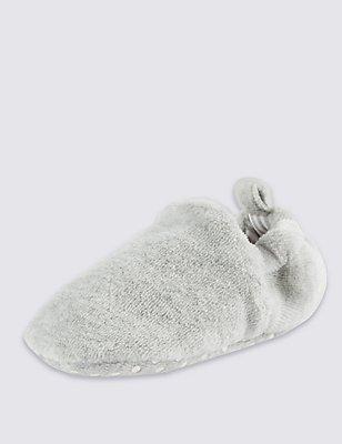 Baby Pull-on Pram Shoes, GREY, catlanding