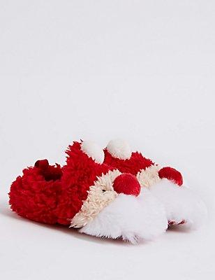 Chaussures bébés à motif Père Noël, ROUGE ASSORTI, catlanding