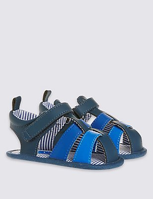 Kids' Riptape Fisherman Sandals, BLUE, catlanding