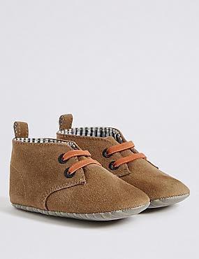 Kids' Slip-on Pram Shoes, SAND, catlanding