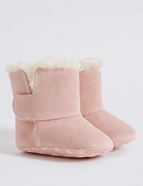 Baby Suede Boots, PINK, catlanding
