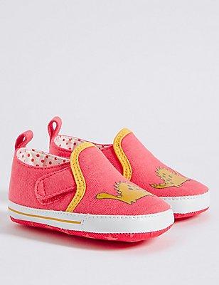 Baby Standard Fit Pram Shoes, FLAMINGO, catlanding