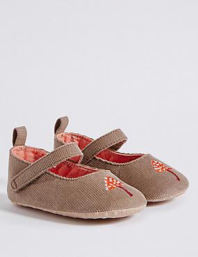 Baby Cross Bar Riptape Pram Shoes, BEIGE, catlanding
