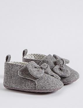Chaussures bébés avec noeud, GRIS, catlanding