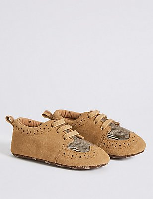 Kids' Brogue Shoes, TAN, catlanding