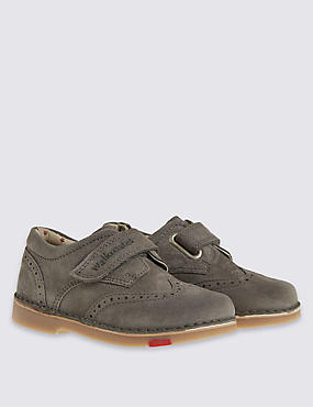 Kids' Walkmates Leather Brogue Shoes, GREY, catlanding