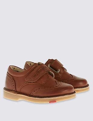 Kids' Leather Walkmates Brogue Shoes, BROWN, catlanding