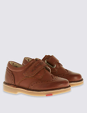 Kids' Walkmates Leather Brogue Shoes, BROWN, catlanding