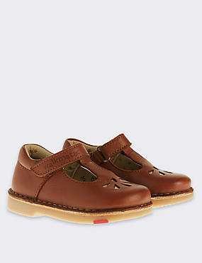 Kids' Leather Walkmates Shoes, BERRY, catlanding