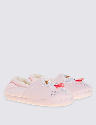 Kids' Fairy Slippers, PINK, catlanding
