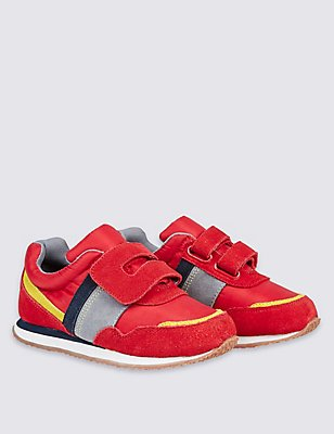 Kids' Retro Trainers, RED, catlanding