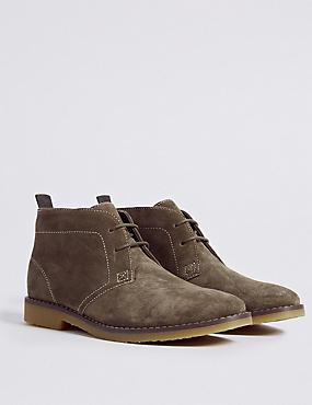 Kids' Suede Chukka  Boots, STONE, catlanding