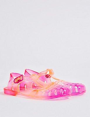 Kids' Glitter Jelly Sandals, PINK MIX, catlanding