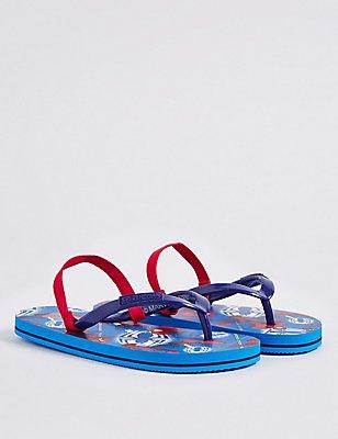 Kids' Spider-Man™ Flip-flops, MEDIUM BLUE MIX, catlanding