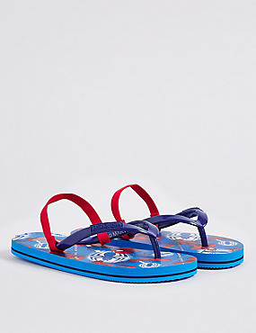 Kids' Spider-Man™ Flip-flops, MEDIUM BLUE MIX, catlanding