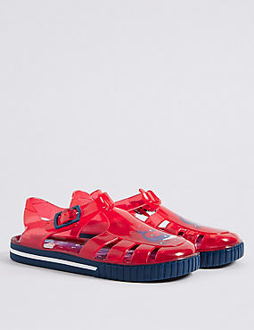Kids' Jelly Sandals, RED MIX, catlanding