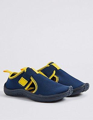 Kids' Aqua Sock Riptape Sandals, BLUE MIX, catlanding
