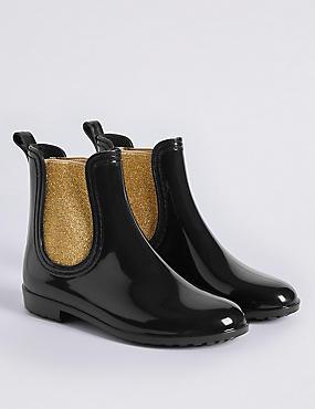 Kids' Chelsea Welly Boots, BLACK, catlanding