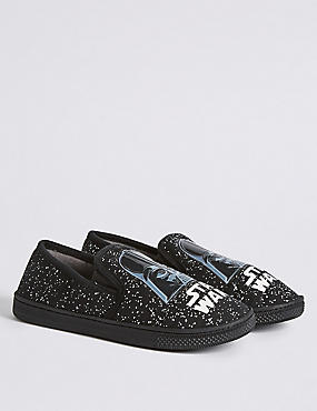 Kids' Star Wars™ Slippers, BLACK MIX, catlanding