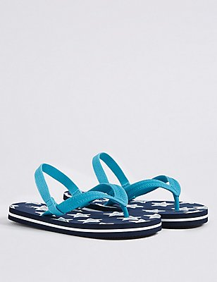 Kids' Flip-flops, BLUE MIX, catlanding