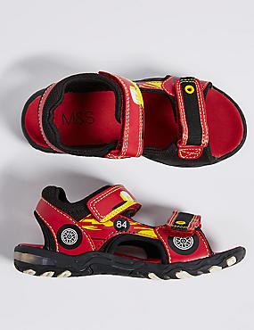 Sandales enfants lumineuses à bande auto-agrippante, ROUGE, catlanding