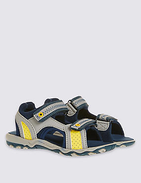 Kids' Riptape Trekker Sandals , GREY MIX, catlanding