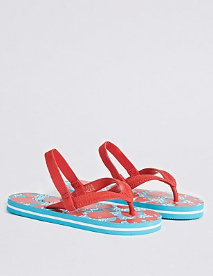 Kids' Eva Fish Flip-flops, RED MIX, catlanding