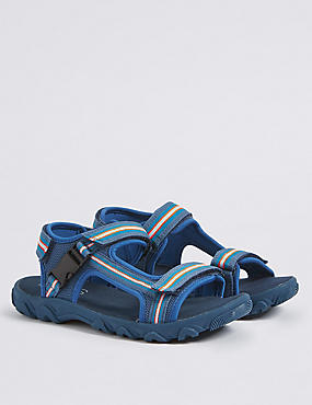 Kids' Trekker Riptape Sandals, BLUE MIX, catlanding
