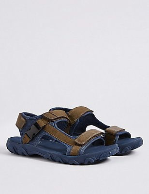Kids' Riptape Sandals, BLUE MIX, catlanding