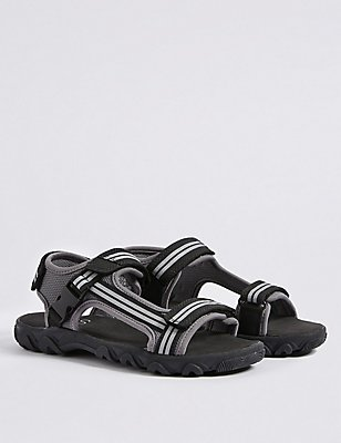 Kids' Riptape Sandals, BLACK MIX, catlanding