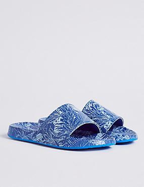 Kids' Pool Slide Slip-on Sandals, BLUE MIX, catlanding