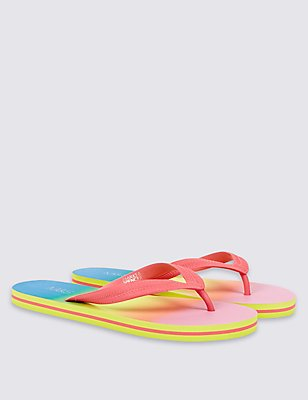 Kids' Flip-flops, BLACK MIX, catlanding