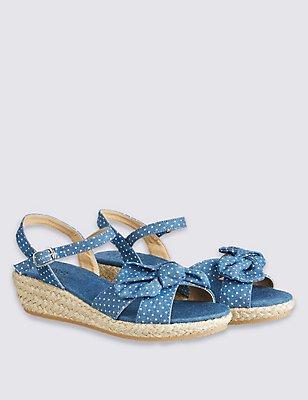 Kids' Wedge Sandals, DENIM, catlanding