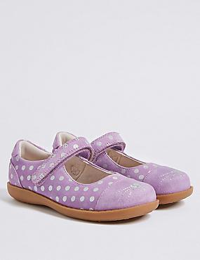 Kids' Suede Riptape Cross Bar Novelty  Shoes, LILAC MIX, catlanding