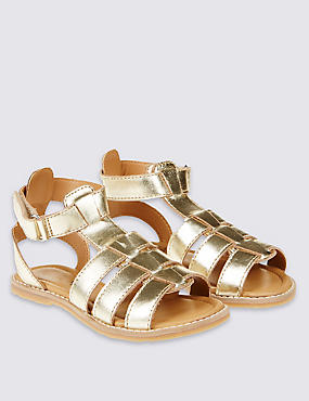 Kids' Gladiator Sandals, METALLIC, catlanding